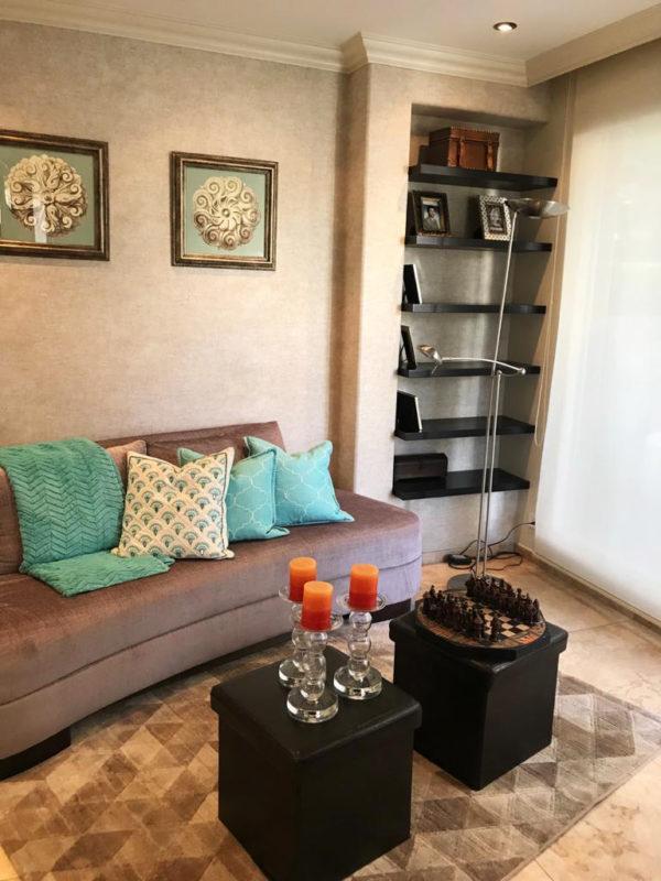 Sala de estar casa Santa Inés