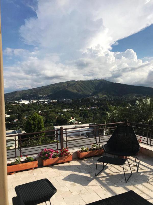 Vista desde balcón casa Santa Inés