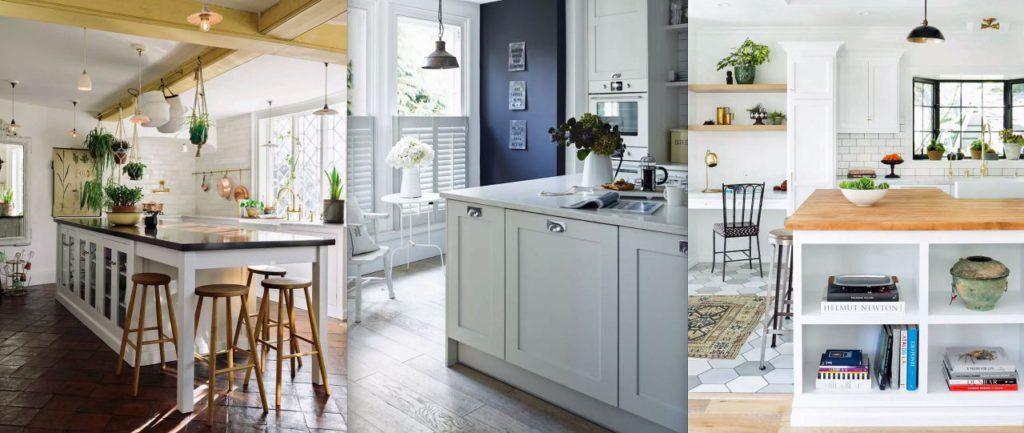 Cocinas blancas en diferentes combinaciones